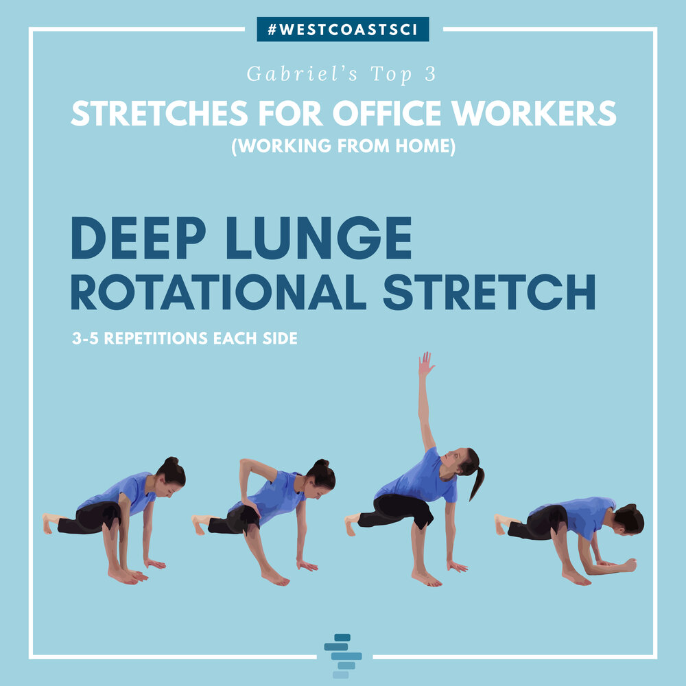 Deep Lunge Rotational Stretch