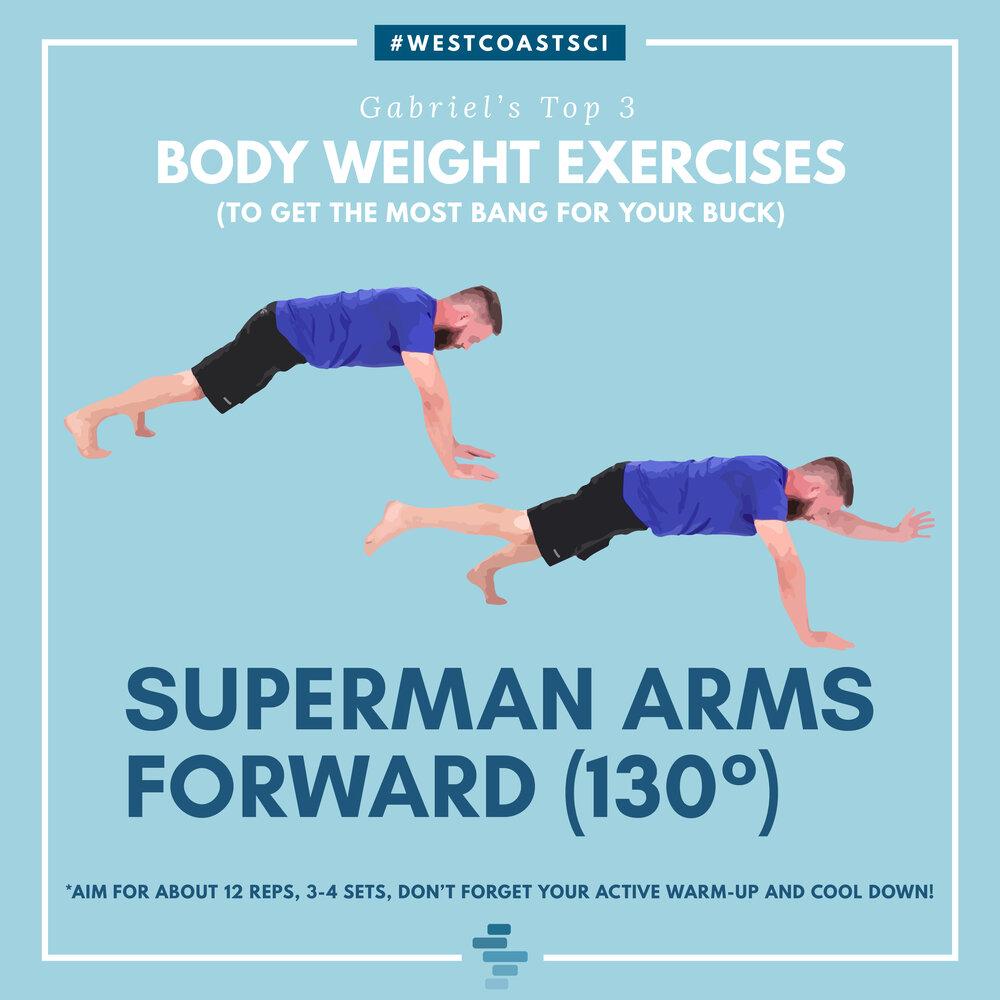 Superman Arms Forward 130°