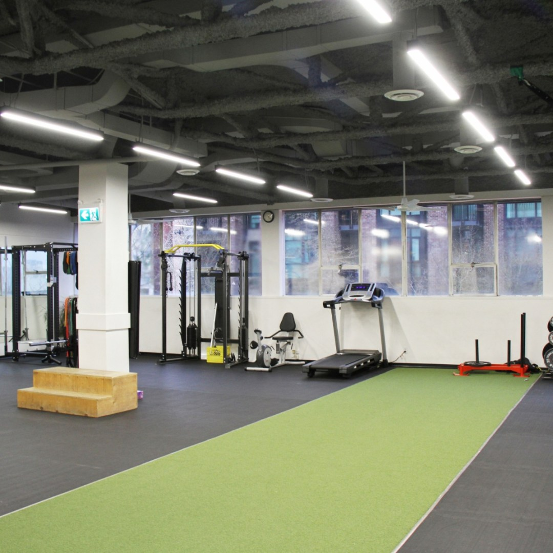 gym space at physiotherapy clinic