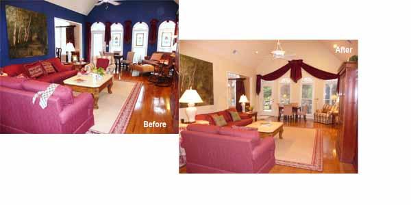Nov Living room before after