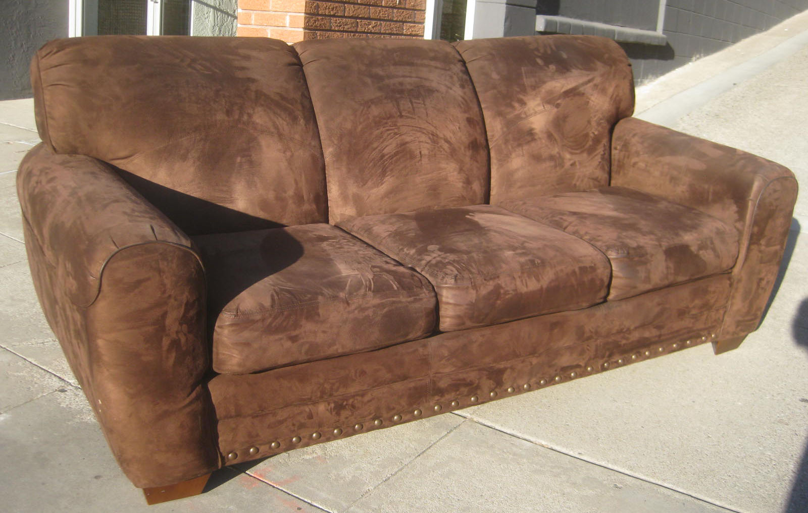 nubuck leather sofa where to buy a sectional cleaning synthetic microsuede west cork