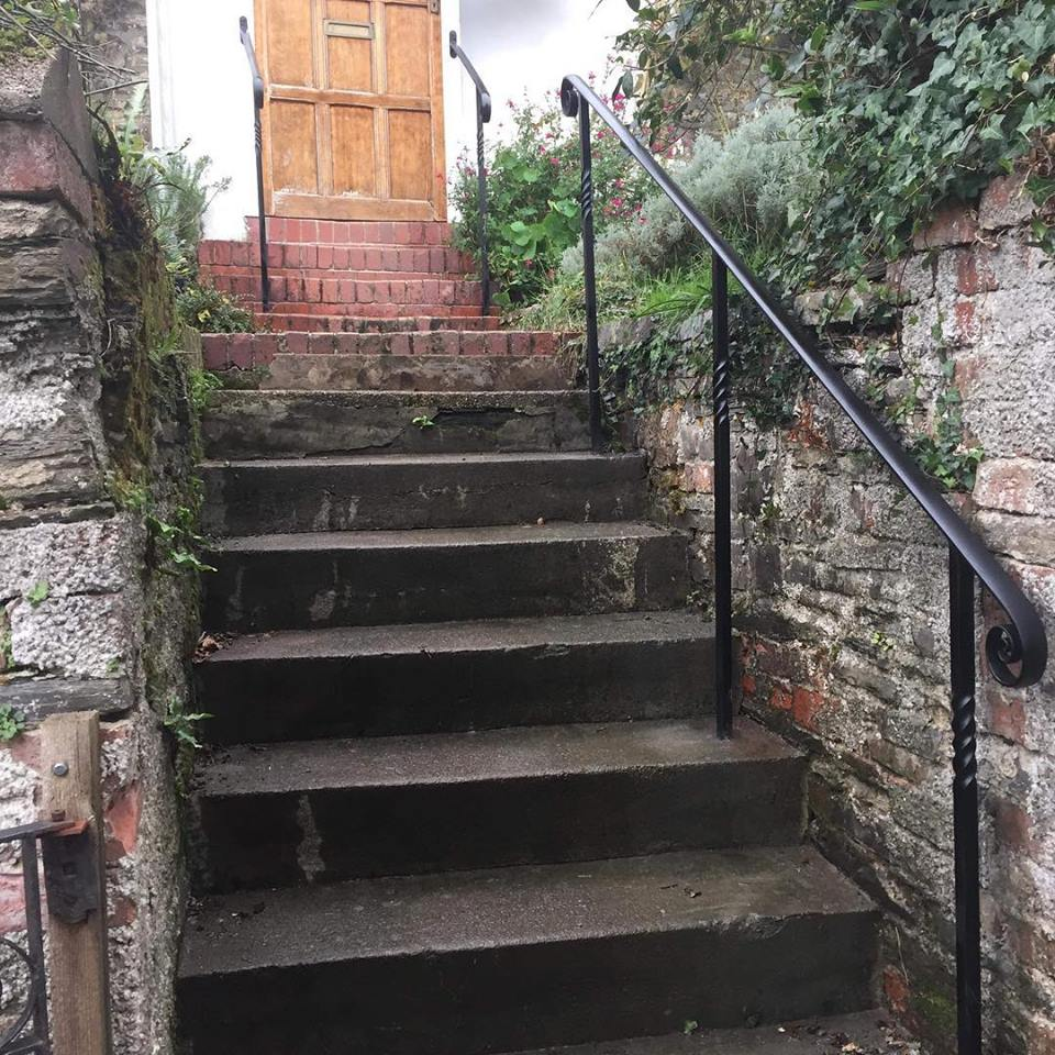 Bespoke metal handrails by West Country Blacksmiths