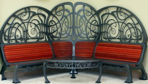 Amazing artist bench by West Country Blacksmiths