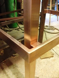 Brass furniture being made at West Country Blacksmiths