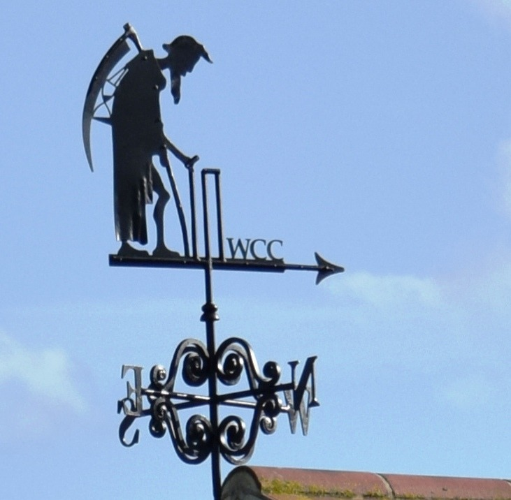 Bespoke Father Time weathervane by West Country Blacksmiths