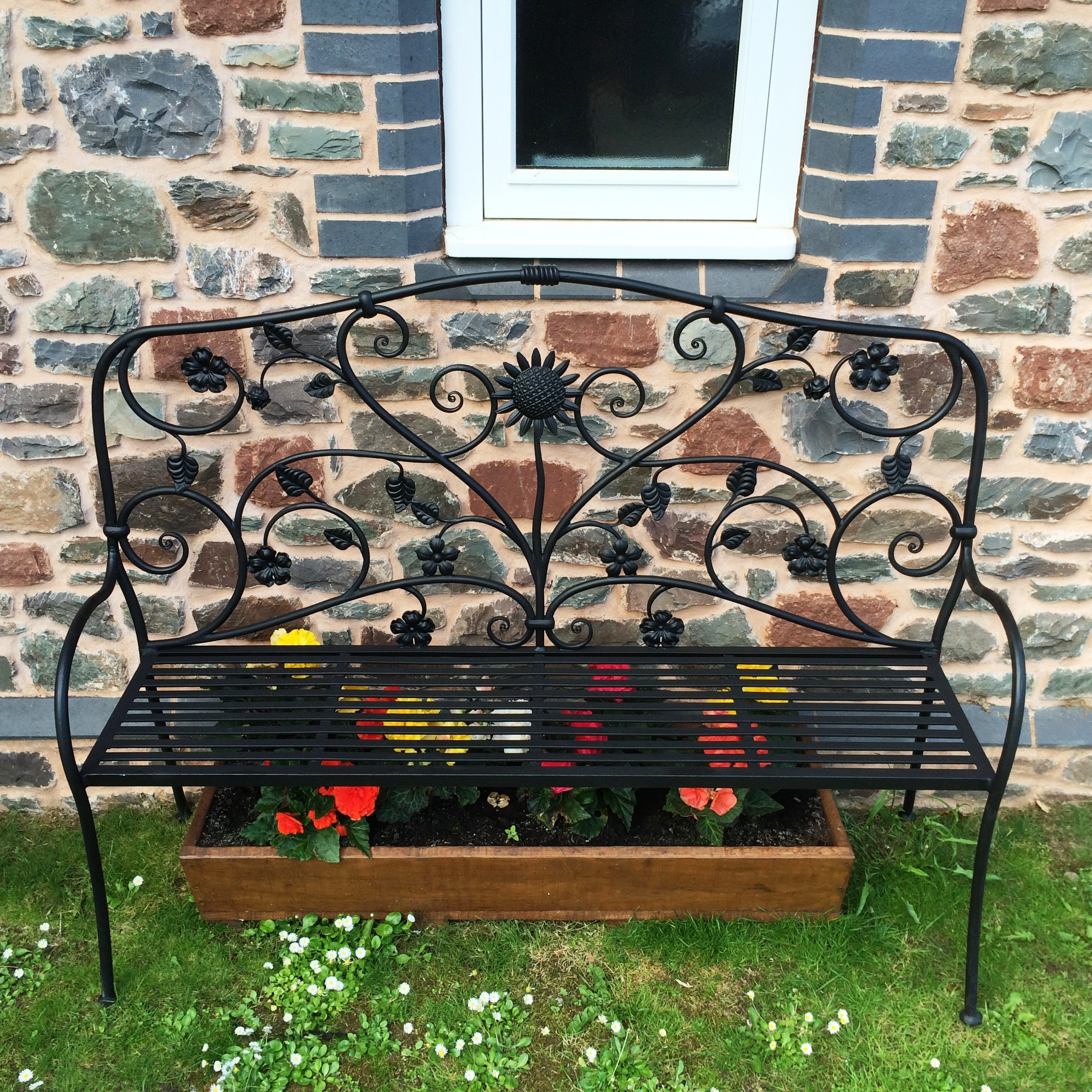 Bespoke garden bench - Designed and made for a private client by West Country Blacksmiths