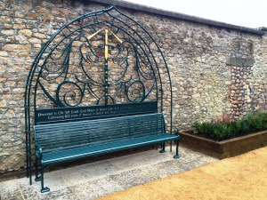 The 800th Anniversary Bench of the Lord Mayor of Bristol at the Bristol Mansion House, Clifton By West Country Blacksmiths.
