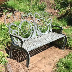 Blacksmith made bench by West Country Blacksmiths