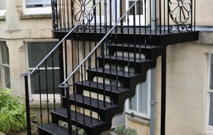 Bespoke cast Iron staircase in Clifton, Bristol by West Country Blacksmiths