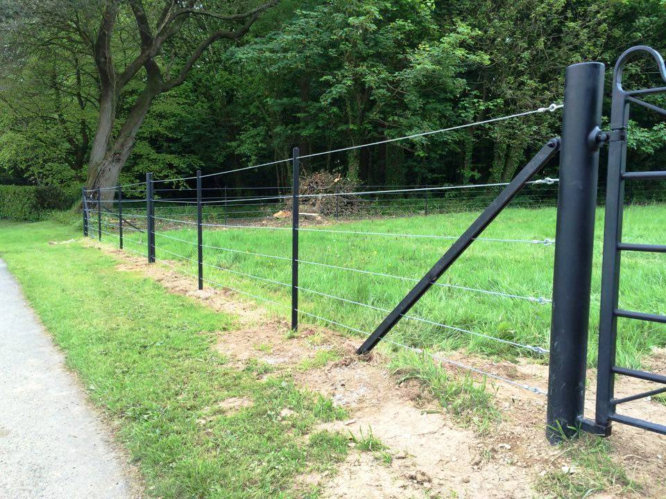 Estate style fencing by West Country Blacksmiths