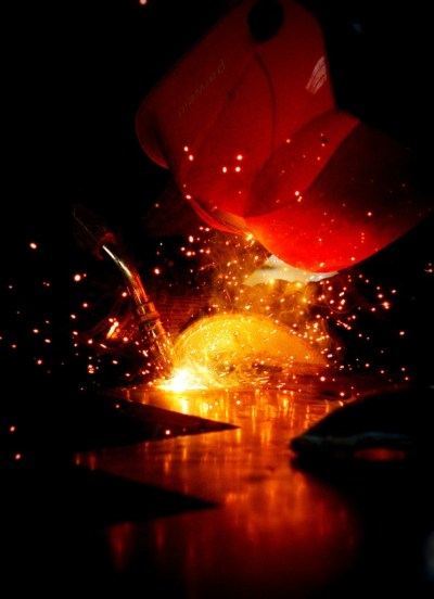 Welding at West Country Blacksmiths