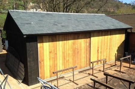 Completion of new workshop at Allerford Forge