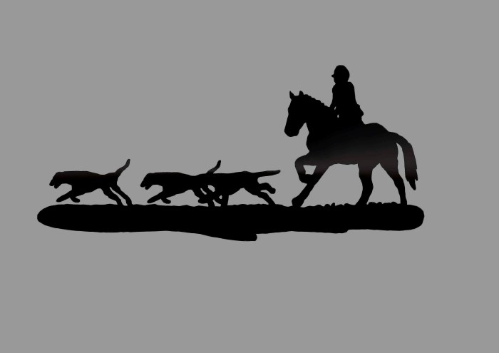 Hunting scene weathervane