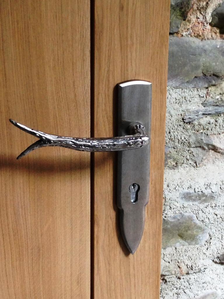 Bespoke made stainless steel door handles