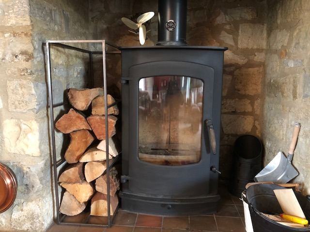 Log rack by West Country Blacksmiths