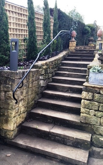 Bespoke external handrail by West Country Blacksmiths