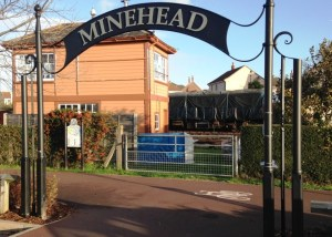 Minehead & Morrisons heritage link arch
