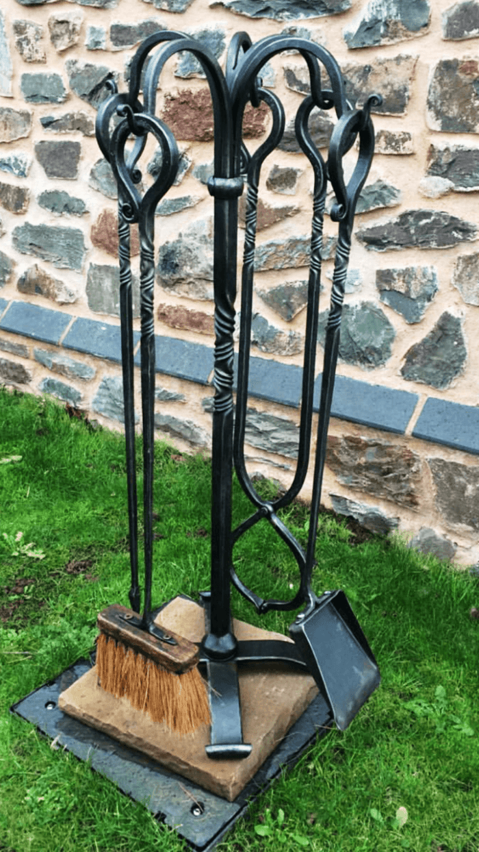 Large bespoke companion set by West Country Blacksmiths