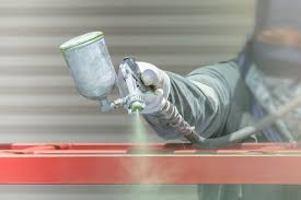 paint spraying steel