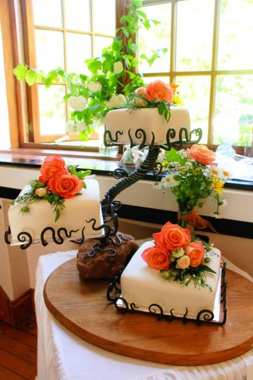Bespoke cake stand by West Country Blacksmiths