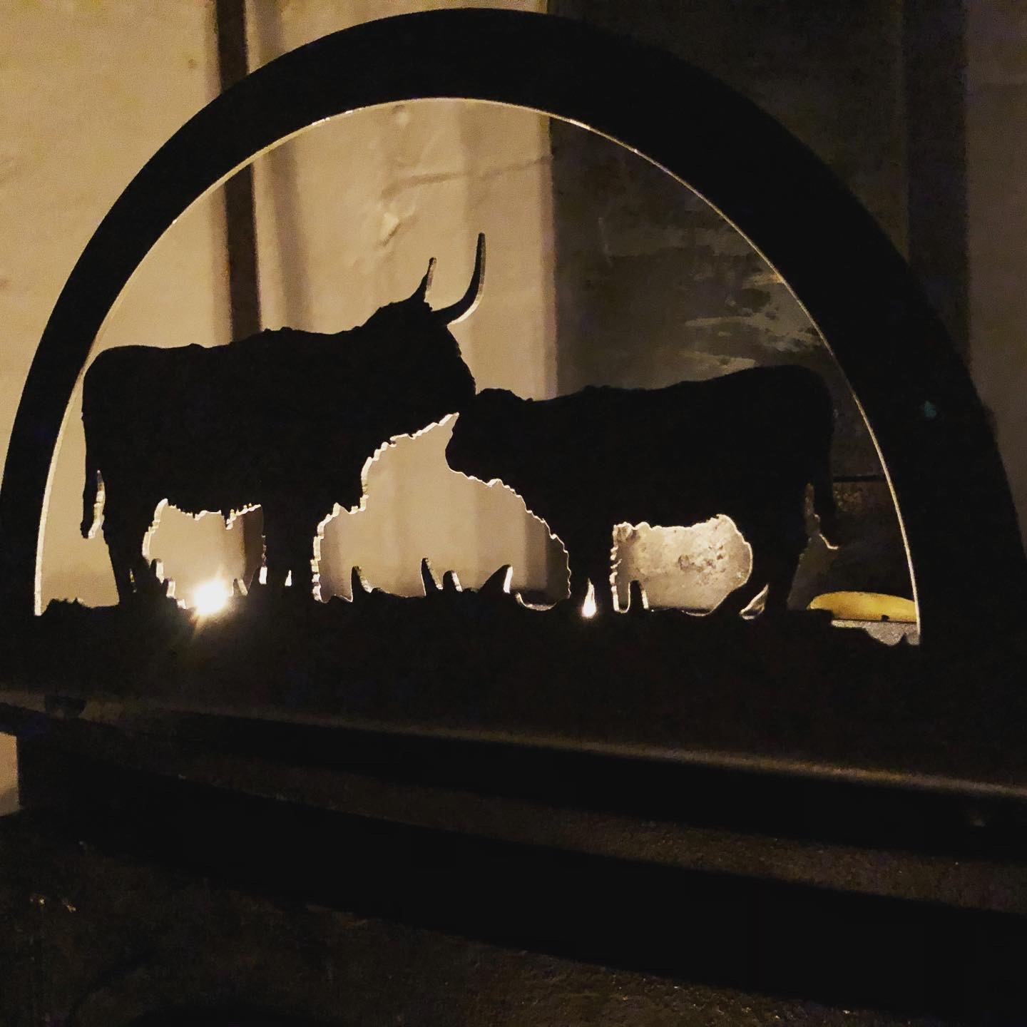 Highland Cattle Candle Tray
