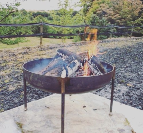 large heavy duty fire pit