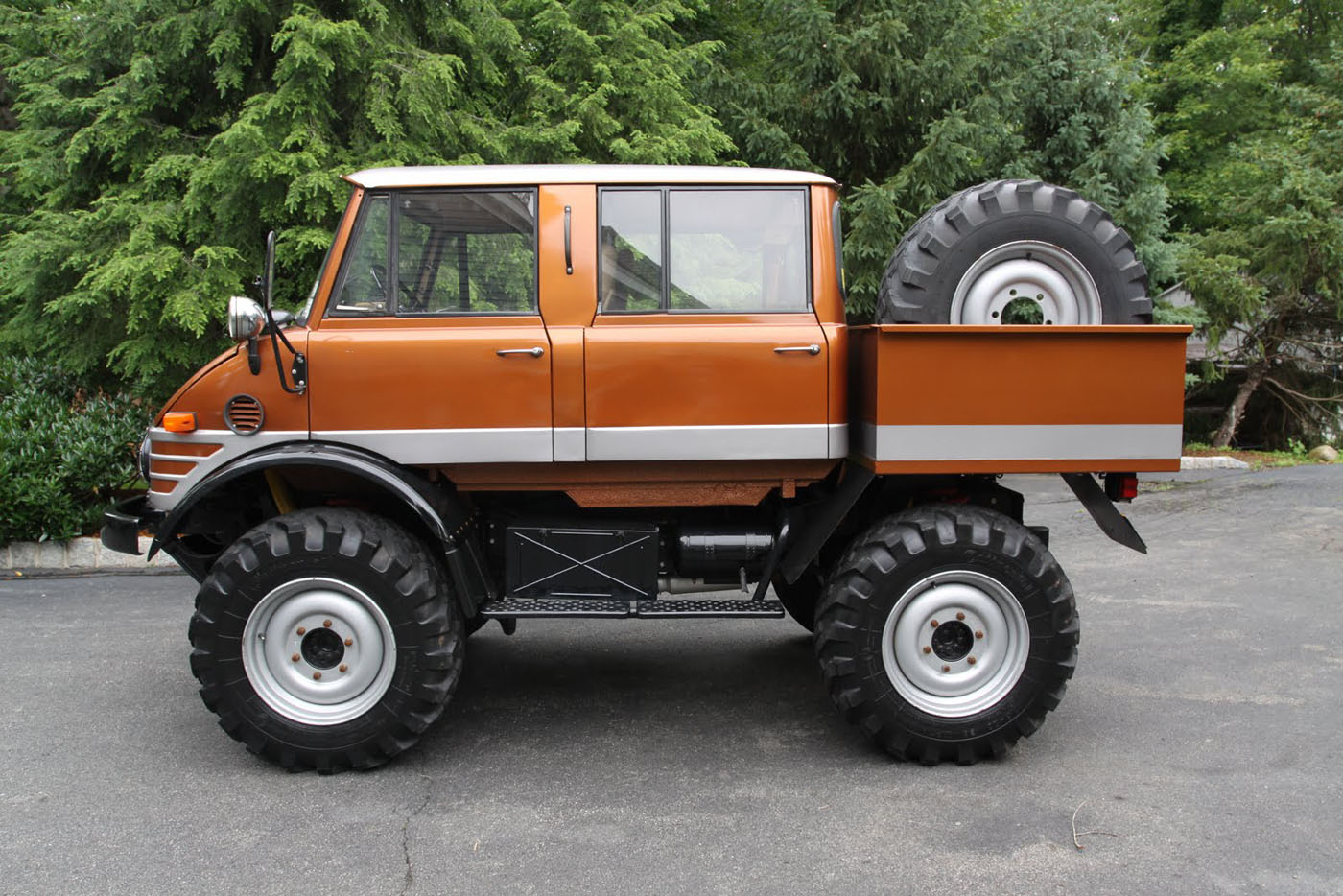 spotted 1974 unimog 406 doka for sale west county. Black Bedroom Furniture Sets. Home Design Ideas