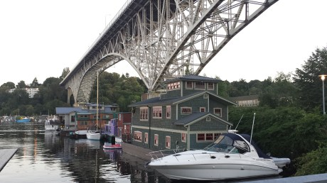 A nice view of the Aurora Bridge