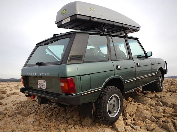 1988-Land-Rover-Range-Rover-Classic-Green-For-Sale-SWB-Rear