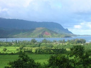 Is it Puff the Magic Dragon curling around Hanalei Bay...or Smaug, harbinger of doom?