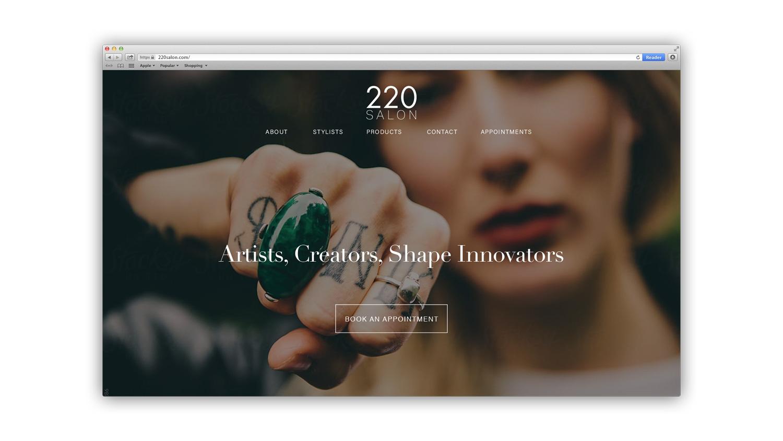 220 Salon Design Mockup