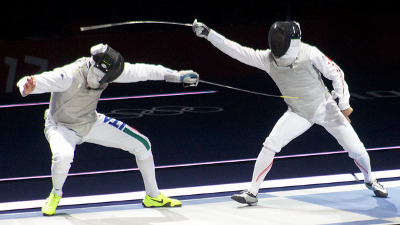 Which sports and martial arts comprise fencing?