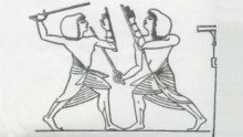 Egyptian sword practice