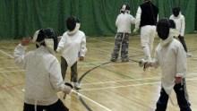 Juniors fencing