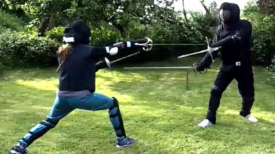 Catling and Pritchard, rapier and dagger sparring