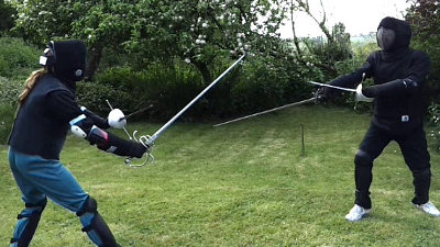 Image: Rapier and dagger sparring, Meldon