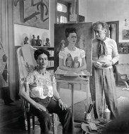 Nickolas Muray, Frida with Nick in her studio, Coyoacan, 1941