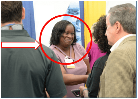 Ideal customer circled in read