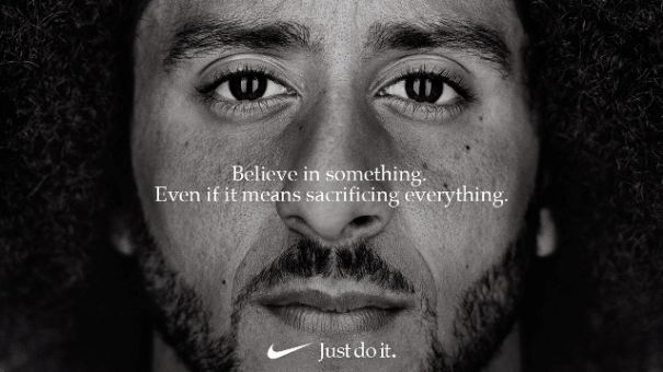Effective short-form content. Colin Kapernik Nike ad: Believe in something. Even if it means sacrificing everything.