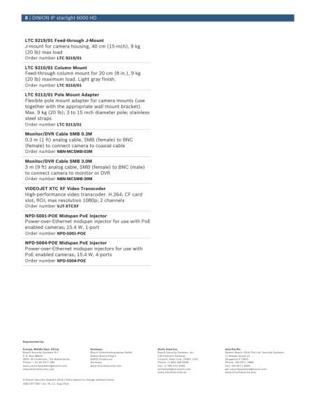 bosch dinion color camera manual