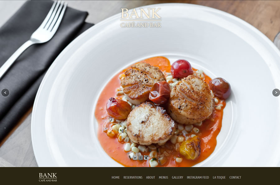Restaurant Website Design and Photography