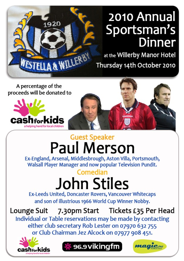 Westella & Willerby Sportsmans Dinner