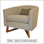 chair in the style of adrian pearsall