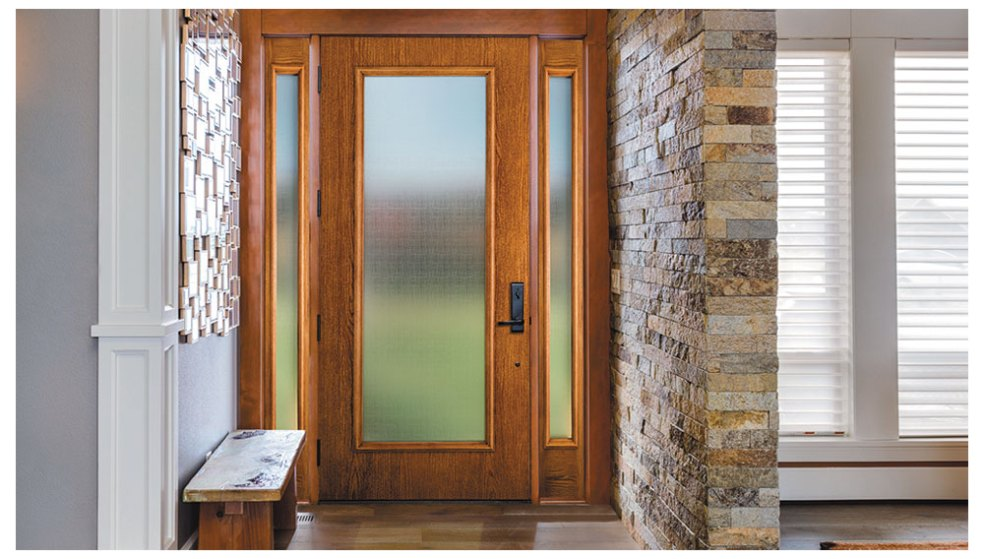 Exciting Wood Doors With Privacy Glass Gallery Plan 3d House