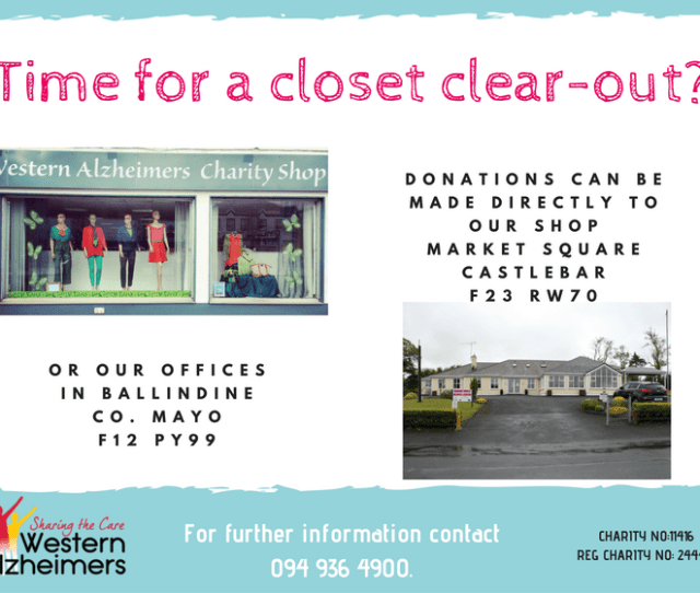 The Western Alzheimers Charity Shop In Boyle Co Roscommon Was Established In  And Is Run Completely By Volunteers The Shop Operated By Margaret