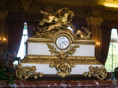 Victorian Mantel Clock, Hylands House - banqueting room