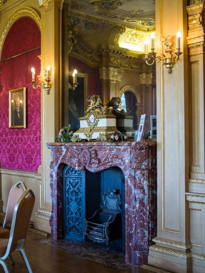 fireplace, Hylands House - banqueting room