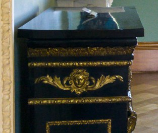 Hylands House - Saloon - side of Pier cabinet