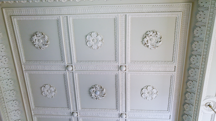 Hylands House - Saloon - Ceiling detail