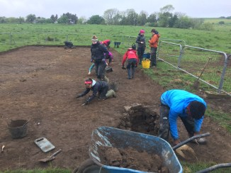 One of our very first days of excavation in the North Field
